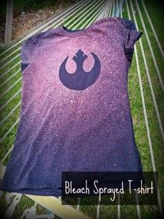 Bleach & a T for the win.  So many possibilities...wonder what the kiddos will want to make.