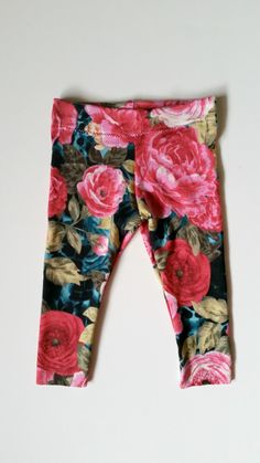 Floral baby girl leggings, leggings with roses, trendy baby clothes, infant girl, stretch pants by LittleBerryClothing on Etsy https://www.etsy.com/listing/221545077/floral-baby-girl-leggings-leggings-with
