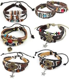 leather jewelry | ... jewelry charms bracelet leather bracelets for men Wholesale mixed