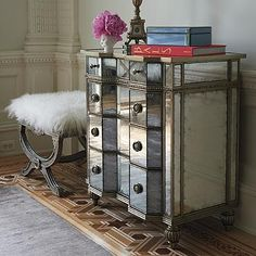 Adrian Eglomise Bedside Chest