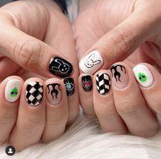 Edgy Nails, Aycrlic Nails, Grunge Nails, Funky Nails, Stylish Nails, Hair And Nails, Minimalist Nails, Nail Swag, Mens Nails