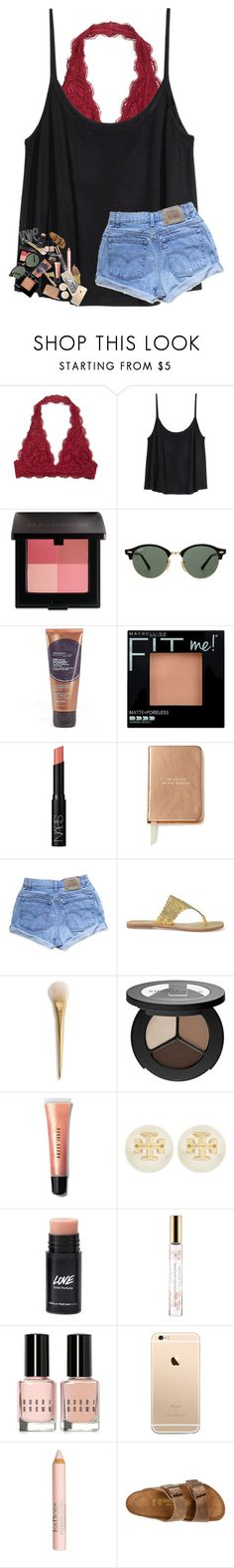 """probably gonna delete the polyvore app."" by southern-belle606 ❤ liked on Polyvore featuring H&M, Laura Mercier, Ray-Ban, Maybelline, NARS Cosmetics, Kate Spade, Levi's, Tory Burch, Smashbox and Bobbi Brown Cosmetics"