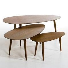 Flashback hevea wood retro coffee tables from La Redoute