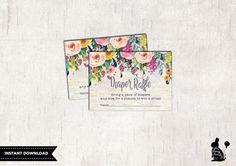 Floral DIAPER RAFFLE Printable Tickets. von BlueBunnyPrintables