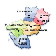 Pays de la Loire région has five departments.
