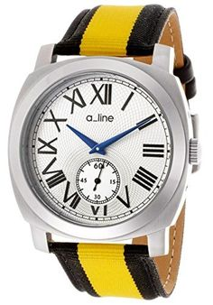 a_line Women's AL-80023-02-YL-NS2 Pyar Analog Display Japanese Quartz Two Tone Watch by a_line -- Awesome products selected by Anna Churchill
