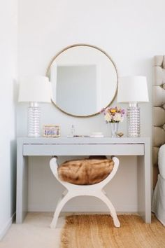 30 Elegant Mid-Century Dressing Tables And Vanities   DigsDigs - Stool for dressing table