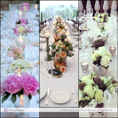 2014 Favorite Table Arrangements – We love long tables! - http://goo.gl/9pjURZ