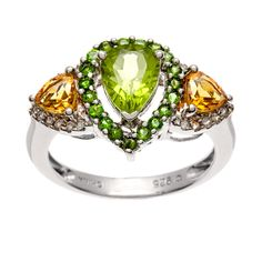 <li>Multi-gemstone ring</li><li>Sterling silver jewelry</li><li><a href='http://www.overstock.com/downloads/pdf/2010_RingSizing.pdf'><span class='links'>Click here for ring sizing guide</span></a></li>