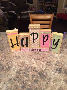 Easter blocks DIY
