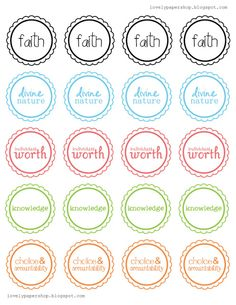 cupcake toppers: young womens | free printable |
