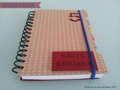 LIBRETA SCRAP PARA RADIX RECORDS