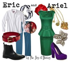 Couple outfits inspired by Eric and Ariel from The Little Mermaid!