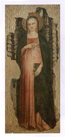 Nardo di Cione ( attivo fra il 1346 e il 1366 ), Madonna del parto, Firenze, San Lorenzo: