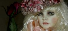 dollstown elisya, faceup by val zeitler,hat by connie of marbled halls
