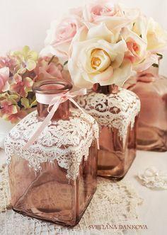 Wedding Vase Baby Shower Wedding Decoration  Ceremony by LaivaArt, $30.00 #wedding #shabby #chic