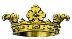 Vintage Images - 2 Colorful Crowns - The Graphics Fairy