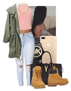 """""""she from NY """" by miss-hollyhood ❤ liked on Polyvore featuring Michael Kors, Miss Selfridge, Yves Saint Laurent, Timberland and Susan Caplan Vintage"""