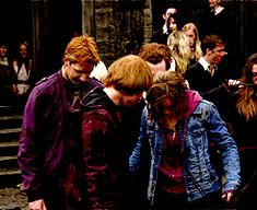 Rupert Grint and Emma Watson behind the scenes Harry Potter