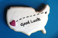Moving Away  Good Luck Cookie by hellobakery on Etsy, $4.00