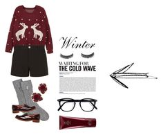 """""""Feeling christmassy 🌟"""" by sosofo ❤ liked on Polyvore featuring WithChic, Gucci, UGG, Kendra Scott, Office, Oribe, 2016, winterstyle and wintersweater"""