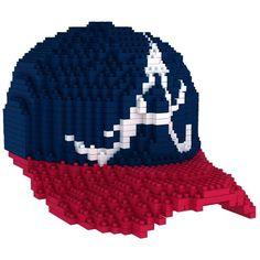 Atlanta Braves MLB 3D BRXLZ Construction Puzzle Set Baseball Cap - *PREORDER Ships in March*