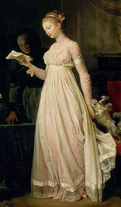 Gift, 1788 - Marguerite Gérard (1761-1837) - Fille du parfumeur grassois Claude Gérard et de sa femme Marie Gilette, elle était la belle-sœur de Jean Honoré Fragonard et fut son élève et sa collaboratrice. Surtout connue comme portraitiste, elle s'illustre aussi avec talent dans la peinture de genre, et laisse dans ce domaine plusieurs chefs-d'œuvre, dont La Liseuse (vers 1783-1785, Cambridge), Le Petit Messager, Le Concert, L'Heureux Ménage.