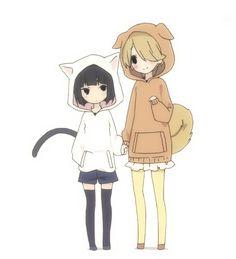 Rino x Saya Hinata, Neko, Gifs, D Gray Man, Magical Girl, Anime Style, Character Illustration, Aesthetic Anime, Cute Art