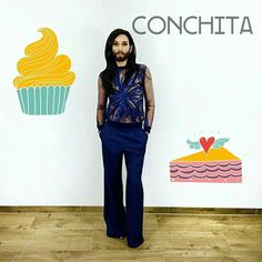 Sweet Conchita #Wurst #eurovision #love #austria #ComeTogether #music #ESC #stockholm #song #picoftheday #follow #instagood #inspired #pretty #she #Vienna