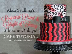 Alisa Seidling's Stylish Leopard Print & Flight of Fancy Silicone Onlay™ Cake Tutorial Tutorial on Cake Central