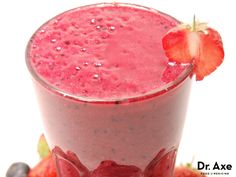 Protein Berry Smoothie packed with proteins, healthy fats, and antioxidants to fight free radicals. Dr Axe