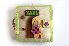 "Dollhouse quiet book with felt ""paper"" doll, Travel Dollhouse, Custom busy book, 4-12 pages, Made to order"