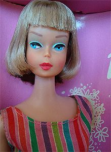 The second highest priced item sold was this NRFB Long Hair High Color American Girl Barbie.    The mint condition doll, which still had her wrist tag intact, sold with a Buy It Now of $1395 less than 2 days after it was listed.