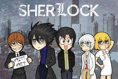 SherLock - Death Note Crossover by ProbablyImpossible.deviantart.com on @deviantART