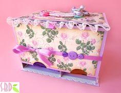 Scrapbooking: Scatola Porta Assorbenti - Panty Pads holder Box