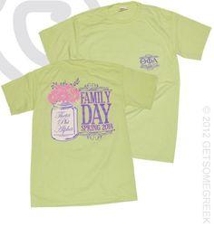 Theta Phi Alpha Family Day Pocket T-shirt!! Mason Jars & Daisies! GetSomeGreek & Theta Phi Alpha!