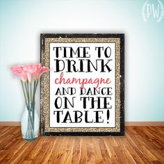 Quote Print, Printable art wall decor, inspirational quotes party decor posters