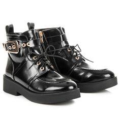Teplé členkové topánky na platforme 8334-1A-B