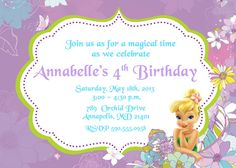 Tinkerbell  Birthday Party Invitation  by PrettyPaperPixels