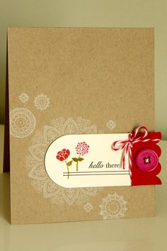 Procrastination Station--love the white ink on kraft paper, perhaps with Delicate Doilies or Mixed Bunch?