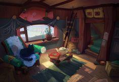 ArtStation - Fisherman's house, Helena Butenkova