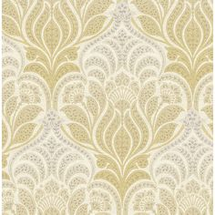 2671-22427 - Twill Yellow Damask - by Kenneth James