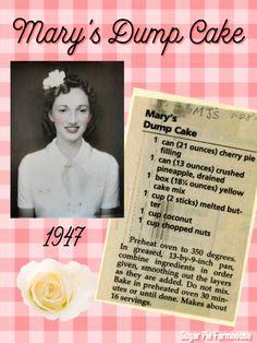 Sugar Pie Farmhouse Old Recipes, Cookbook Recipes, Yummy Recipes, Recipe Scrapbook, Cupcake Frosting, Cupcake Cookies, Dump Cake Recipes, Sugar Pie, Recipe Cards