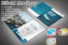 Bifold Brochure Mockup by MockUps Gallery on Creative Market