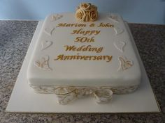 50th Wedding Anniversary cake by traceybestcakes (not enough hours in the day), via Flickr