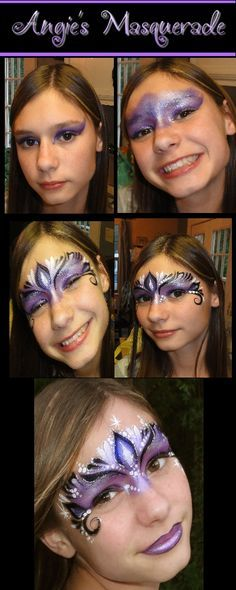 Step by step masquerade face painting.