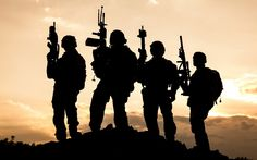 soldier, United States Army Rangers, Military, Sunset, Silhouette ...