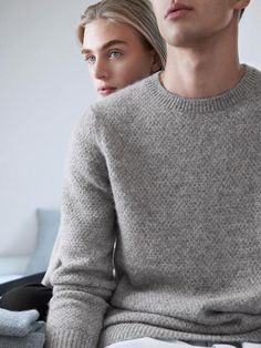 Grey knit sweater / Relaxed Cocooning / COS