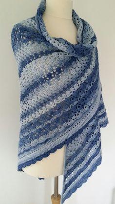 Annyone shawl (patroon Annie Germeraad) Katoen Degrade