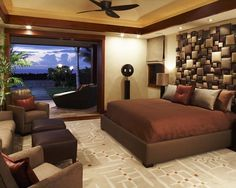 Bedroom Design, Pictures, Remodel, Decor and Ideas - page 18. Headboard<3 See larger pic to appreciate. Oh! ...and what a view:)